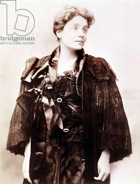Portrait of Eleonora Duse (1858-1924), Italian actress.