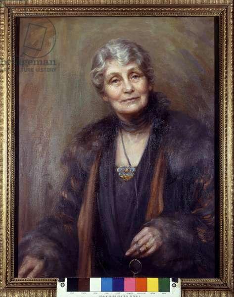 Emmeline Pankhurst, 1927 (oil on canvas)