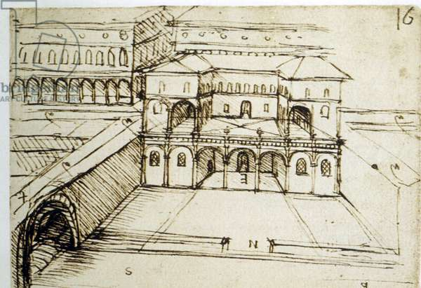 Urban planning: architectural plan (16) by Leonardo da Vinci (Leonardo da Vinci)