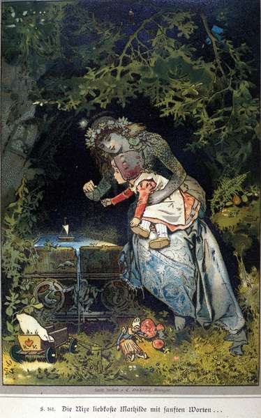 Illustration of Vogel for a tale by brothers Jacob (1785-1863) and Wilhelm (1786-1859) Grimm, 1894.