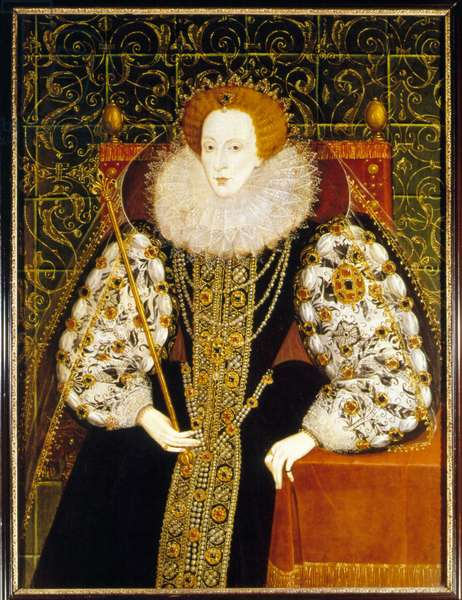 Portrait of Elisabeth Iere of England (1533 - 1603).
