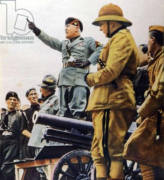 Benito Mussolini décide d'envahir l'Ethiopie. 1935.