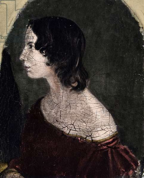 Portrait of Emily Jane Bronte British poet and writer (1818-1848) National Portrait Gallery