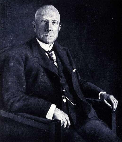 Portrait de John Davidson Rockefeller (1839 - 1937), industriel et financier americain.