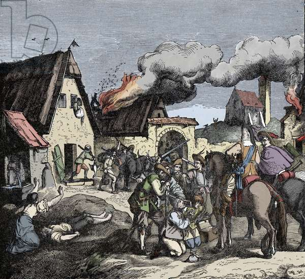 Thirty Year's War: Soldiers Ravaging Pomerania - Thirty Years' War (1618-1648): Troops of Soldiers Ravaging Pomerania (Poland, Germany)