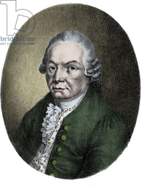 Portrait of the German composer Carl Philip Emanuel Bach (1714-1788).