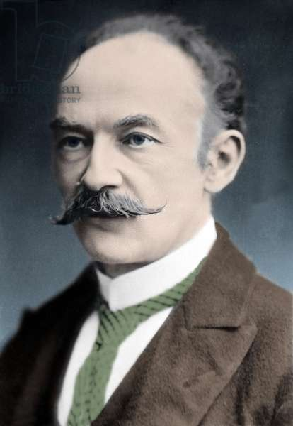 Literature: Portrait of Thomas Hardy (1840-1928), English writer.