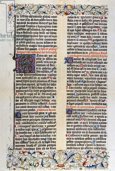 The latin Bible by Gutenberg with 42 lines - 1455.