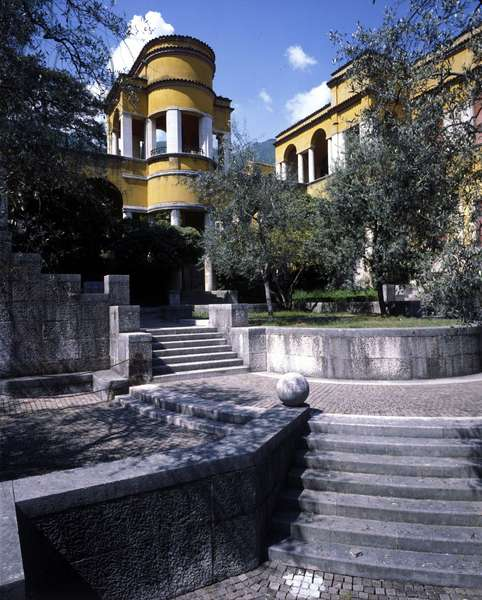 Gardone Riviera. Il Vittoriale: The garden. House of Gabriele d'Annunzio.