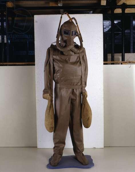 Scuba model made from the model designed by Leonardo da Vinci (Leonardo da Vinci).