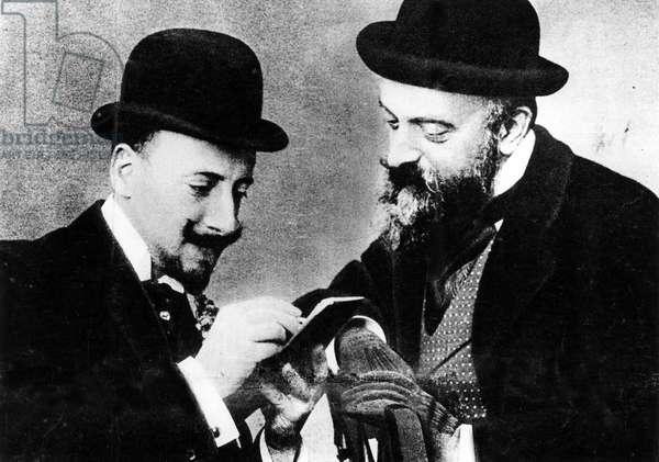 Portrait of Gabriele D'Annunzio and Count Primoli. Rome 1898