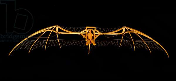 Model of Leonardo da Vinci's Glider (Leonardo da Vinci) - Museum of Science and Techniques of Leonardo da Vinci, in Milan