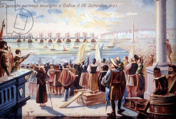 The second departure of Christopher Columbus of Cadice on 25/09/1493.