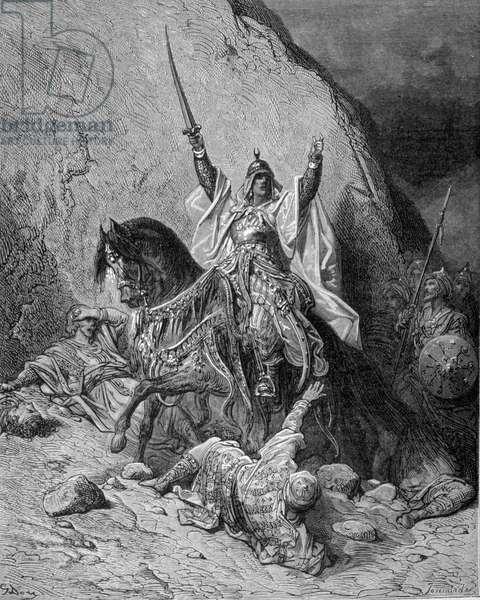 Saladin (1138-1193) (Salah al-Din Yusuf al-Ayyubi (al-Ayyubi). Engraving by Gustave Doré. 19th century.
