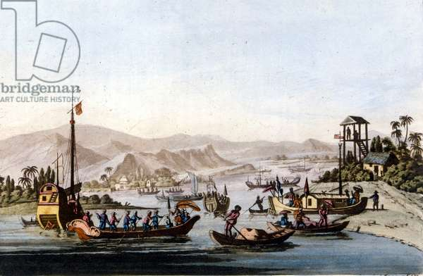 Mouth of the Yang Tse Kiang, 1820.