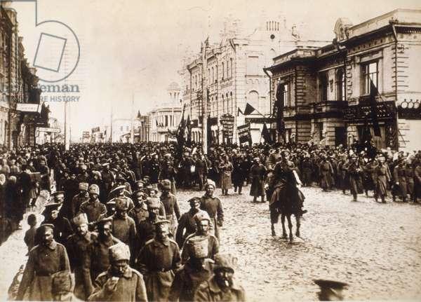 Russian Revolution in 1917, St. Petersburg.