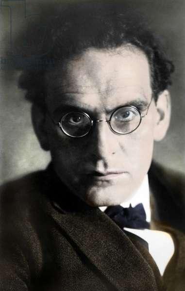 Portrait of Otto Klemperer (1885-1973), German conductor.