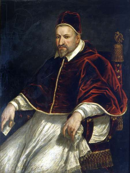 Paul V (1605 - 1621). Anonymous painting. Rome, Museum of Rome.