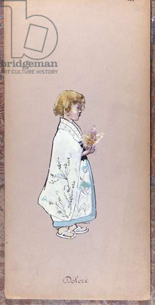 Costume by Il Bambino (Il Dolore) for the creation of Madame Butterfly by Giacomo Puccini in 1904.Collection of the Museo della Scala in Milan.