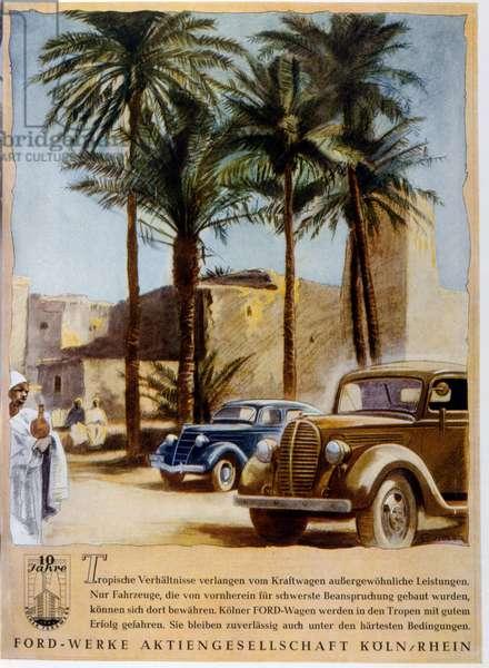 German car advertising Ford, 1942.