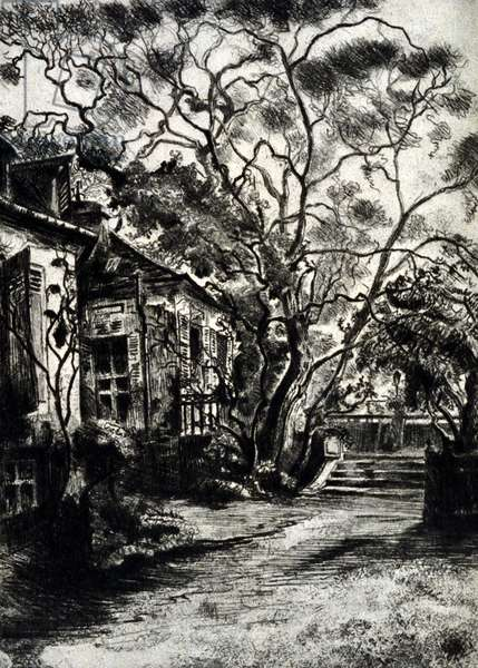 Jean Jacques Rousseau's garden in Passy in the Parisian suburbs.