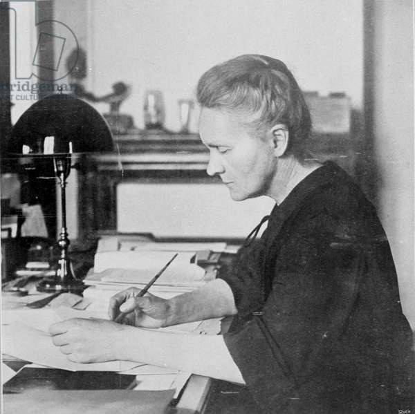 Portrait of Marie Curie. Photography.