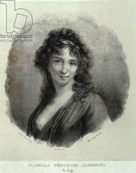 Portrait of Isabella Teotochi Albrizzi (litho)
