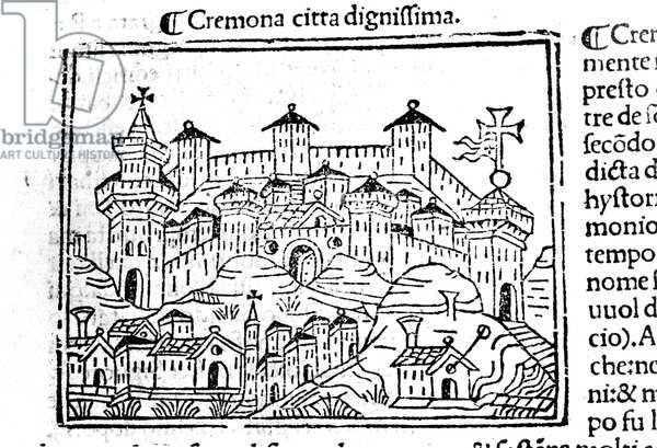 The city of Cremona after Jacopo Foresti, 1521.