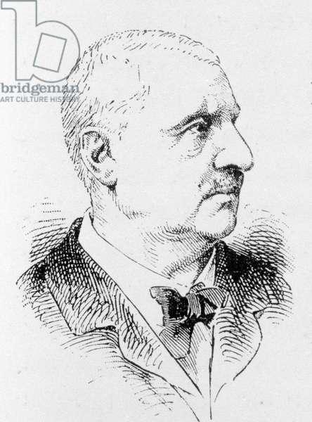 Portrait of Anton Bruckner (1824 - 1896), Austrian composer.