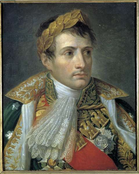 Portrait of Napoleon I, painting by Andrea Appiani (1754 - 1817). Museo del Risorgimento. Milan