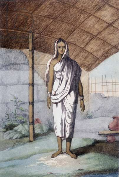 Culture, civilization and Indian society: woman of the lower caste.