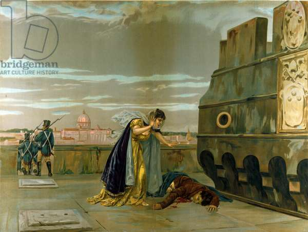 Scene from 'Tosca' by Giacomo Puccini (chromolitho)