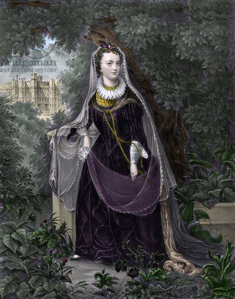 Portrait of Queen Mary I Stuart (or Mary Iere of Scotland) (1542-1587) (Mary Queen of Scots)