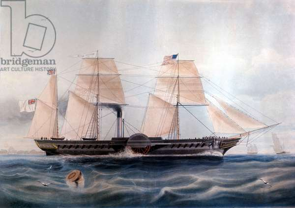 """The ship """""""" HMS British Queen"""""""" from 1862."""