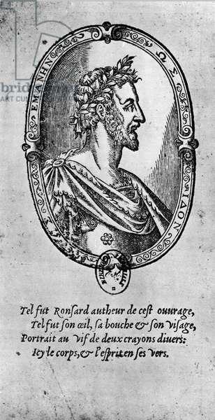 Portrait of the French poet Pierre de Ronsard (1524-1585).