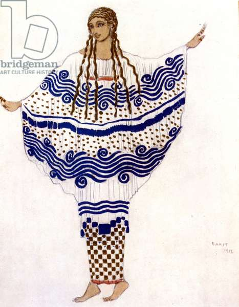 The afternoon of a fauna by Claude Debussy, costume by Léon Bakst, 1912.