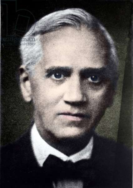 Portrait of Alexander Fleming, Scottish biologist (1881-1955) who discovered penicillin.