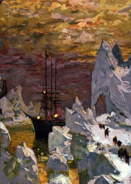 "The boat """" Why not"""" IV (later baptized """" the Frenchman"") by Jean Baptiste Charcot (1867-1936), doctor, explorer of the polar zones. Expedition for wintering a in Antarctica between 1908-1910."