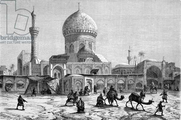 View of the Marketplace and the Ahmet-Kiaia Mosque, Baghdad (engraving)