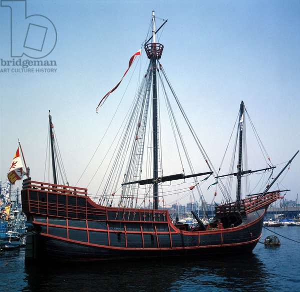 Reproduction of the caravel Santa Maria by Christopher Columbus.