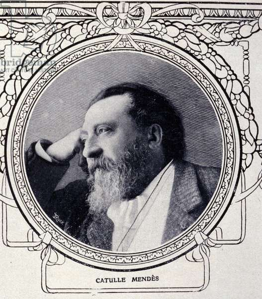 Portrait of the writer Catulle Mendes (1841 - 1909).