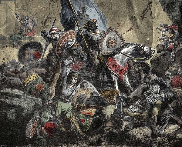 The Battle of Roncesvaux - Battle of Roncesvaux in 778 -