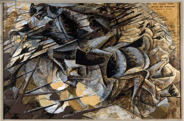 "Futurism: ""Cavalry Charge"" - 1914"