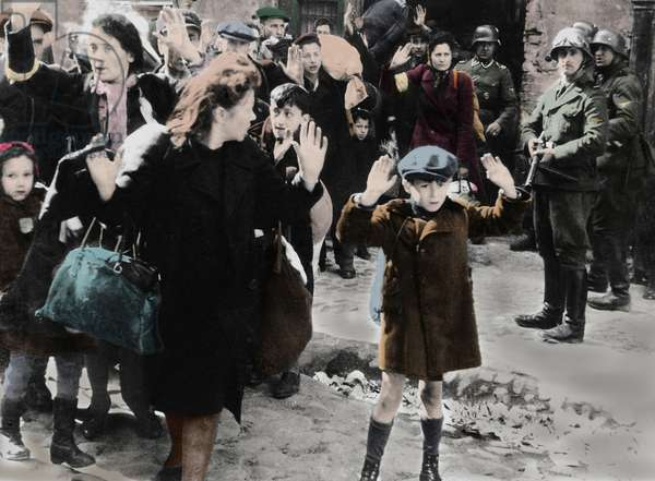 Second World War (1939-1945): Jews were taken prisoner by the German army during the Warsaw Ghetto (Poland) uprising in April 1943. Photo from the report made to Himmler by General SS Jurgen Stroop (1895-1952), commander of German troops during the destruction of the ghetto.