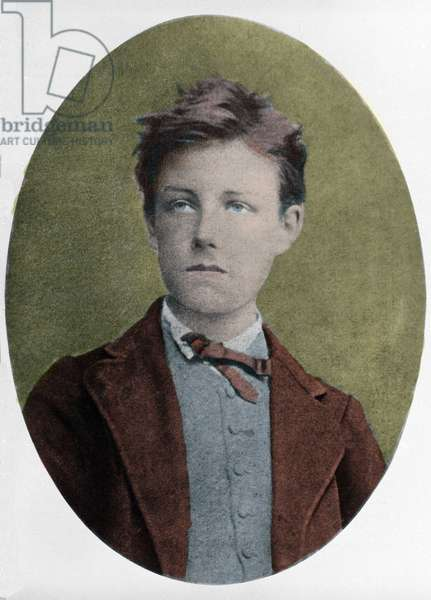 portrait of Arthur Rimbaud (1854-1891), French poet, at the age of 17, by Carjat.