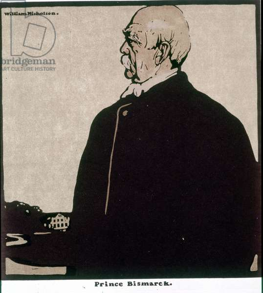 Otto, Prince von Bismarck (1815-1898), German statesman - Drawing by William Nicholson (1872-1949)