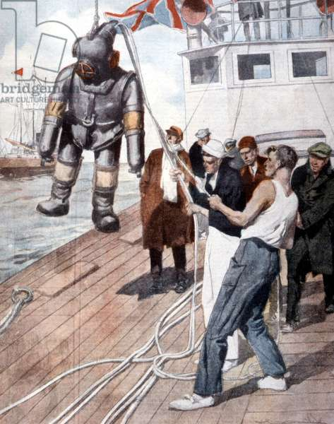 John Turner tried to recover a treasure in Ireland in 1920, and took on the Jackson Scaphandre.