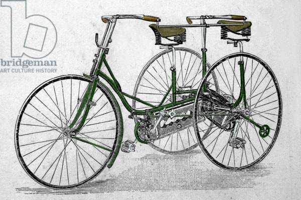 Tandem tricycle model.