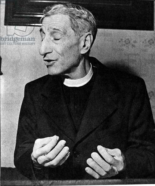 Portrait of Don Luigi Sturzo (1871 - 1959), Italian priest founder of the Italian People's Party (PPI). Photography.