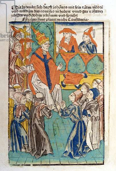 The antipope John XXIII (1410 - 1415) convened the Council of Constance in 1414 to put an end to the great schysm of the West.